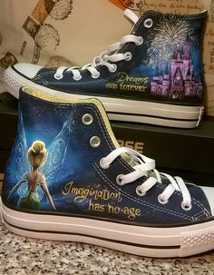 Disney hand painted shoes