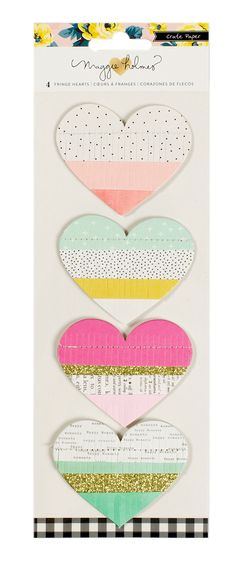 Amazon.com: American Crafts Crate Paper Maggie Holmes Bloom Fringe Hearts