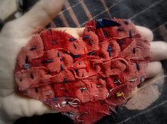 Jude Hill's small cloth series with a heart theme on Flickr.