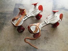 My first skates looked like these only the wheels were metal also. Oh my gosh they were so ugly. But I learned how to skate with them.