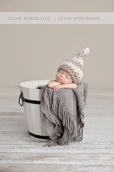 Honey, let's have a baby so we can put it in buckets for pictures!