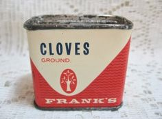 Vintage Frank's Cloves Spice Tin @ Vintage Touch $6.00
