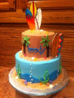Surfer Baby Cake