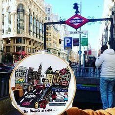 Bordado de la Gran Vía Madrid