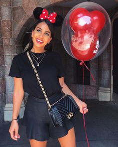 Linen Short Happiest place on earth. in the Blooms Short in Black Linen from 'Fleur du Jour' Disney Bound Outfits Casual, Disney World Outfits, Disneyland Outfits, Disney Inspired Outfits, Disney Dresses, Disney Style, Trendy Outfits, Kids Outfits, Disney Fashion