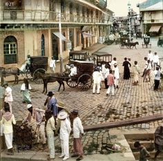 """Rosario Street and Binondo Church from the Pasig River, Manila, Philippine Islands, Early 20th Century"" Image source: Underwood & Underwood @ John Tewell Colorized by E.S.Sison"