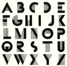 love this 1929 typeface : Bifur : by Adolphe Mouron Cassandre