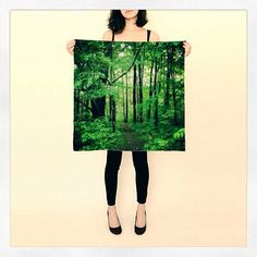Enchanted Forest Scarf  Chiffon  Silk Scarf   by DifferentCity