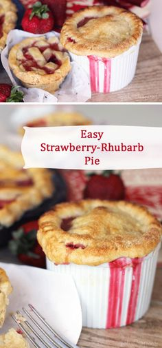 Strawberry Rhubarb Pie recipe - easy and delicious!