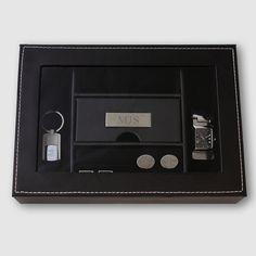 Personalized Men's Dresser Valet Box - cool #groomsman #gift idea