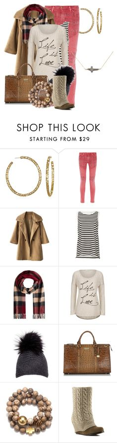 """""""Untitled #1563"""" by anfernee-131 ❤ liked on Polyvore featuring Current/Elliott, Burberry, Inverni, Brahmin and Steve Madden"""