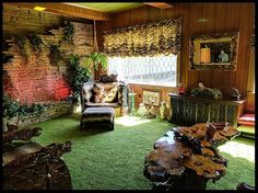 The Jungle Room at Elvis Presley's Graceland.