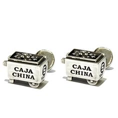 Caja China Cufflinks. Along with all the other Cuban inspired jewelry, this site is AMAZING!