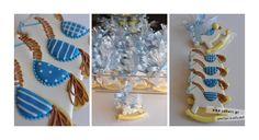 μπομπονιερεσ βαπτισησ αγορι - Αναζήτηση Google Baby Cookies, Baby Shower Cookies, Fun Cookies, Royal Icing Decorated Cookies, Cookie Decorating, Sweets, Cake, Creative, Desserts