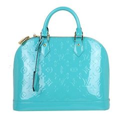 f70f7b328814 Pre-Owned Louis Vuitton Turquoise Alma Vernis Pm ( 1