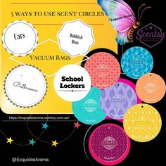 How do you use your Scent Circles ? Here are a few ways that they can be used.  #hashtag #aroma #exquisitearoma #exquisite_aroma #wax #scentsy #fragrance #giftware #smellsdivine #giftideas #aussie #homedecor #share #love #likeloveshare #homegoods #homedecorations #australia