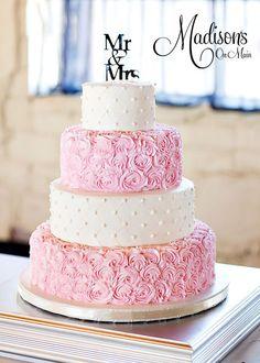 dusty rose pink wedding cakes