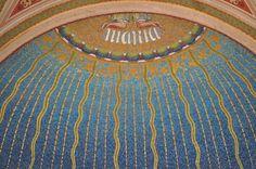 Vyšehrad - national cemetary - mosaic monument detail