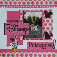 """""""Shopping Disney - Priceless""""  A shopping page... haven't done that yet!"""