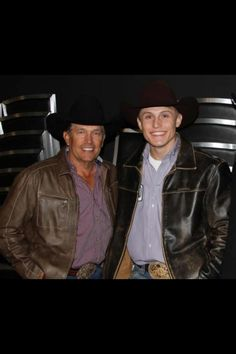 George Strait and Tuf Cooper... (Tuf Cooper won his second World Champion title in tie-down roping at the Wrangler National Finals Rodeo in Las Vegas in December of 2012.)