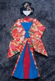Resultado de imagen de origami kimono