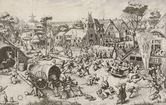 Pieter Bruegel d. Ä. (Stecher: Jan und Lucas van Duetecum) «Der Jahrmarkt von St. Georg», um 1559, Radierung und Kupferstich. (Bild: Albertina, Wien)