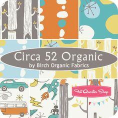 Monaluna Circa 52 fabric collection...aqua dots + cars in playroom?