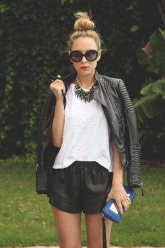 really like the loose faux leather short look. Would like in black or tan/brown