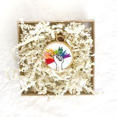 Feminist Art, Valentines Jewelry, Statement Jewelry, Girlfriends, Rainbow, Girlfriend Gift, Pendant Necklace, Unique Jewelry, Handmade Gifts