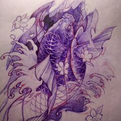 Koi drawing.. Getting there. #drawing #sketch #koi #asiantattoo #chronicink #tattoo