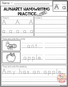 handwriting worksheet a z free printables writing literacy kindergarten handwriting. Black Bedroom Furniture Sets. Home Design Ideas