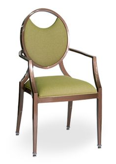 """""""Louie Dream Stack Arm Chair"""".  An aluminum stackable arm chair featuring tapered legs with a molded foam standard seat. Stackable 6-8 high.  Please contact us for pricing (718)363-3097."""