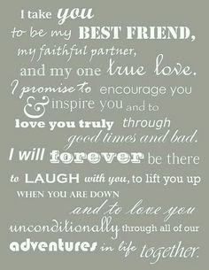 These were our wedding vows. Thought I had lost them when I deleted my wedding b… These were our wedding vows. Thought I had lost them when I deleted my wedding board, but managed to find them! Oh so happy to read them again, Before Wedding, Our Wedding, Dream Wedding, Wedding Ideas, Trendy Wedding, Wedding Stuff, Wedding Country, Wedding Rustic, Budget Wedding