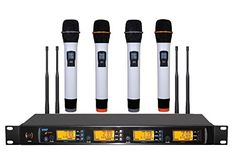 Boly Four Channels Wireless Microphone System with 4 handheld Microphones >>> Read more at the image link.