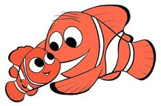 Images of Nemo, Marlin, Dory and Squirt from Disney Pixar's Finding Nemo.