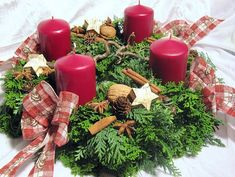 Advent Wreath, Christmas Decorations, Table Decorations, Xmas, Wreaths, Holiday, Flowers, Projects, Search Engine