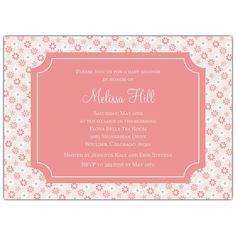 Petite Floral Baby Shower Invitations