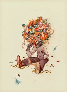 "James Jean's ""Crayon Eater"" embodies the essence of creativity. Take in all the world has to offer and clash them to great a whole new world of ideas. James Jeans, Psychedelic Art, Illustrations, Illustration Art, Arte Lowbrow, Ghost In The Machine, Jolie Photo, Oeuvre D'art, Art Inspo"