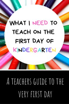 The first day of school is exciting and wonderful, but it can be a little overwhelming in a kindergarten classroom. This guide is designed to help any kindergarten teacher have smooth first day of school! Welcome To Kindergarten, Kindergarten Anchor Charts, Kindergarten Projects, Kindergarten Worksheets, First Week Of School Ideas, First Year Teachers, Netflix, First Day Of School Activities, School