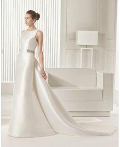 Meerjungfrau Exklusive Schlichte Brautkleider aus Taft mit Schleppe