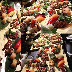 job done  #sushi #japanfood #junsei #salmon #nigiri #ranbowroll #chrunchy #sushibar #sushidate #roma #tonno #tataki #tobiko #foodart #WorkSmart by thpnative