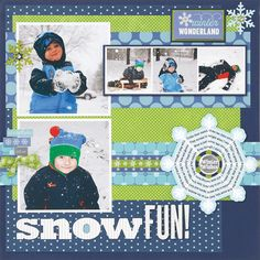 Snow Fun created by Laina Lamb for the Jan/Feb 2013 issue of Creating Keepsakes magazine.