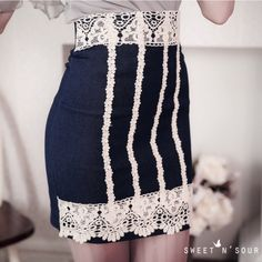 OL牛仔包臀短裙-OMUSES全尺碼
