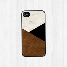 Personalized Phone Case, iPhone 4 4S, iPhone 5 5S 5C, Samsung Galaxy S3 S4 S5, iPhone Case, Brown Black Geometric Men, Fathers Day (437)