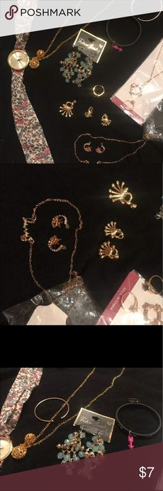 All new gold tone jewelry bundle All new bundle of jewelry. Including everything pictured.              J211 Jewelry Necklaces