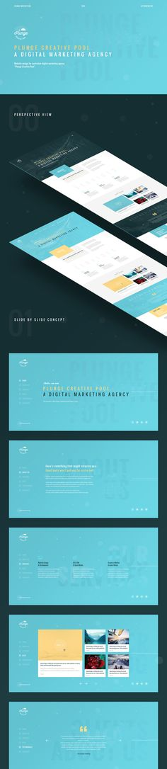 "Website design for australian digital marketing agency ""Plunge Creative Pool"""