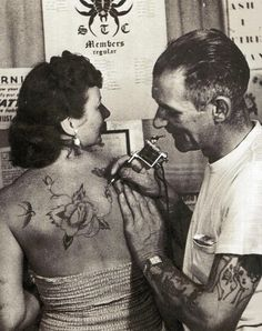 Classy Lady getting inked