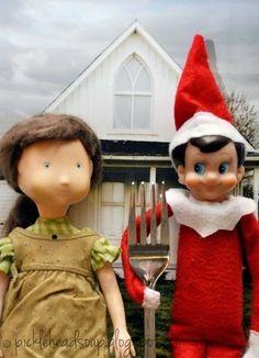 """""""Elf Gothic"""" now on loan from the North Pole Art museum......."""