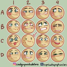 Expression Memes and Art Tutorials Drawing Challenge, Art Challenge, Emoji Challenge, Drawing Reference Poses, Drawing Tips, Drawing Face Expressions, Facial Expressions, Art Sketches, Art Drawings