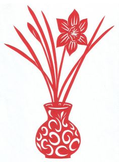 narcis ve váze Decoupage Paper, Diy Paper, Paper Crafts, Sketch 4, Kirigami, Paper Cut Design, Free Stencils, Stencil Patterns, Paper Stars